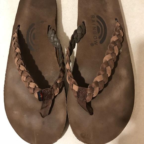 121d4611893 Rainbow Shoes - Rainbow Sandals- premier leather w  braided strap